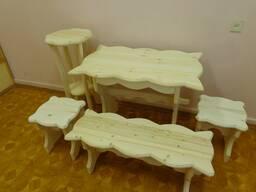 Набор садовой мебели из дерева под заказ. Вариант 3
