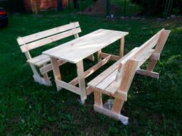 Набор садовой мебели из дерева под заказ. Вариант 1