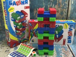 Настольная игра Башня с кубиками Червячки - Глазастики, Dreams Makers 30 блоков