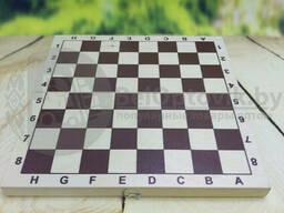 Настольная игра Пластиковые шашки в комплекте с деревянной доской