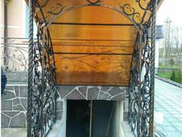 Навес кованый на вход в подвал