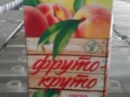Нектар яблочно-персиковый с мякотью 1 литр