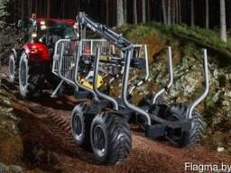 Новый лесовозный полуприцеп PAlMS 8s с манипулятор 3.52