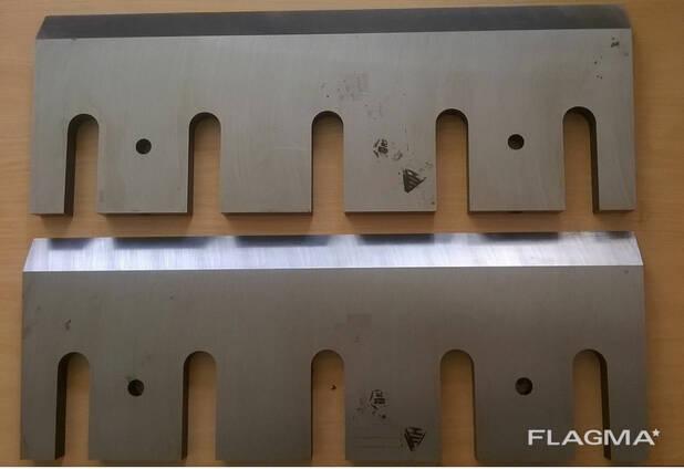 Рубильные ножи для производства технологической щепы