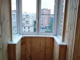 Обшивка балкона и лоджии панелями пвх и вагонкой. - фото 1
