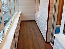 Обшивка балкона и лоджии панелями пвх и вагонкой. - фото 2