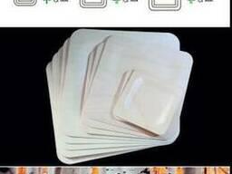 Одноразовая деревянная посуда из березы