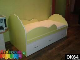 Односпальная детская кровать с бортиком под заказ Минск