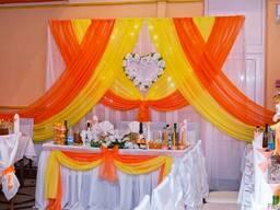 Оформление свадеб тканями и цветами