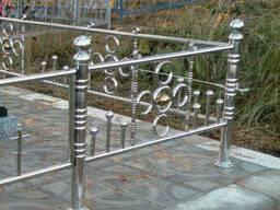 Ограда из нержавеющей стали