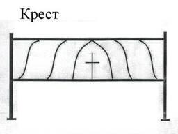 Ограда на могилу - Крест 2. 2/2. 3 двойная