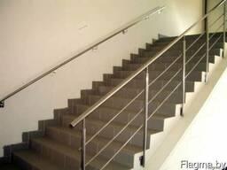 Ограждения для лестниц из нержавейки - фото 2