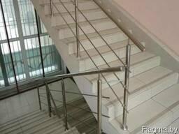 Ограждения для лестниц из нержавейки - фото 3