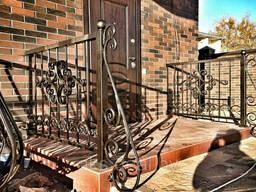 Ограждения для лестниц. Перила кованые