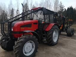 Оказываем услуги по вывозке леса трактором МТЗ 1221