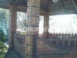 Покраска конструкций и заборов из бетона