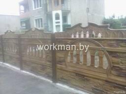 Покраска железобетонных, бетонных заборов