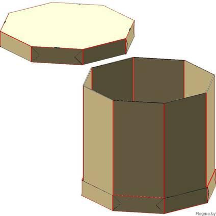 Октабин 1200х1000х960 (комплект обечайки и дно и крышка)