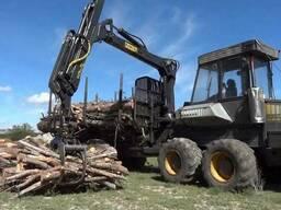 Организация окажет услуги по вывозке древесины форвардером О