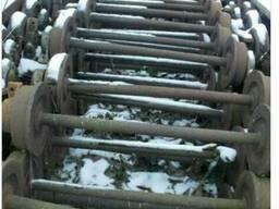 Оси сушильных вагонеток (колея 750мм.