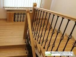 Отделка бетонных лестниц деревом в Минске
