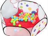 Палатка-манеж игровая детская с баскетбольным кольцом (50 шариков) - фото 2