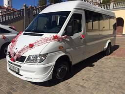 Пассажирские перевозки новым микроавтобусом Mercedes 19 мест