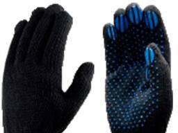 Перчатки х/б с ПВХ «Лайт» Класс вязки:10 Цвет:белый/черный