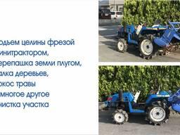 Перепашка огорода мини трактором