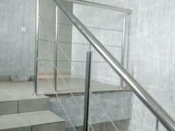 Перила для лестниц, балконов, пандусов. Поручни из нержавейки - фото 3