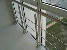 Перила для лестниц, балконов, пандусов. Поручни из нержавейки - фото 4