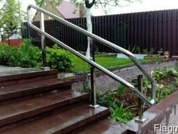 Перила для лестниц, балконов, пандусов. Поручни из нержавейки - фото 5