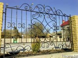 Перила, навесы, въездные ворота, ковка. - фото 3