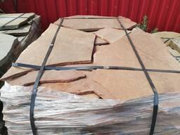 Натуральный камень песчаник красный 1. 5 см