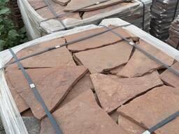 Натуральный камень песчаник красный 1.5 см