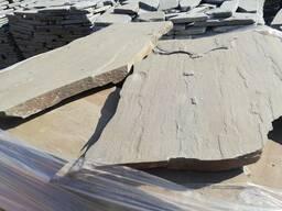 Песчаник серо-синий крупноформатный (пошаговый) 5 -6 см