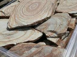 """Натуральный камень песчаник """"шкура тигра"""" толщина 2-3 см"""