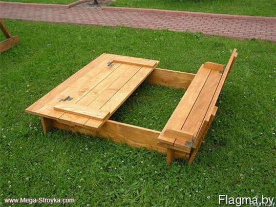 Песочница деревянная с крышкой