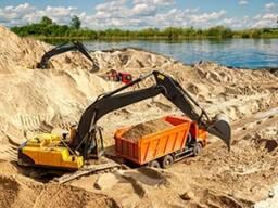 Песок карьерный, МАЗ 20 тонн