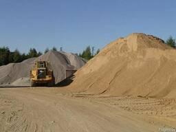 Песок мытый с доставкой до объекта самосвалом 10 20 25 30 т