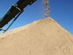 Песок мытый с доставкой самосвалом 10тонн(6.5-7 м куб)