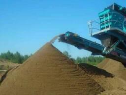 Песок сеяный 20т.