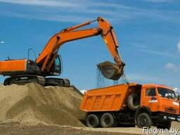 Песок сеяный с доставкой самосвалом
