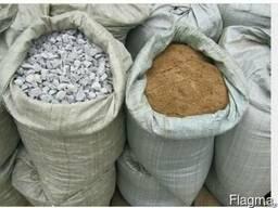 Песок, Щебень, Цемент - фасованный в мешках по 40кг.
