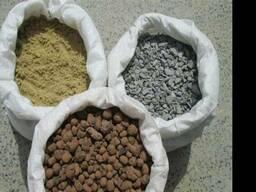 Песок, щебень, керамзит в мешках
