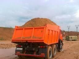 Песок строительный, МАЗ 20 тонн