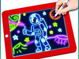 Планшет для рисования светом c разноцветной подсветкой. ..