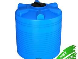 Пластиковая емкость на 1000 литров, горизонтальная ЭВЛ-1000