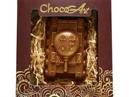 Подарки из шоколада ручной работы. Танк, 80 г