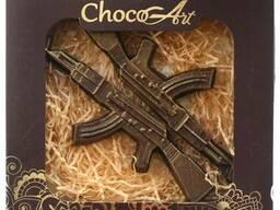 Подарок из шоколада ручной работы. Автоматы, 2 шт. , 100 г